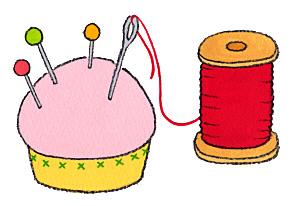 縫い針と糸イラスト
