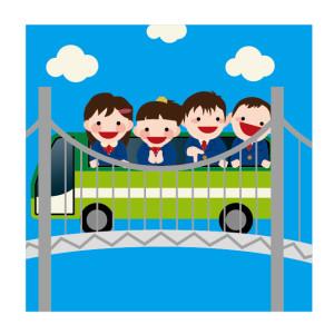 バス旅行イラスト